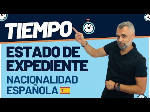 Tiempo ESTADOS DEL EXPEDIENTE de Nacionalidad Española