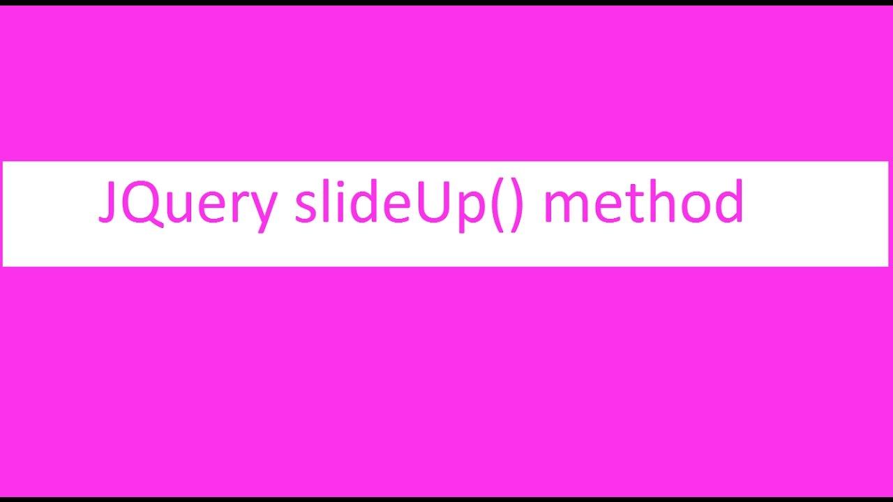 Jquery slide effect top java tutorial.