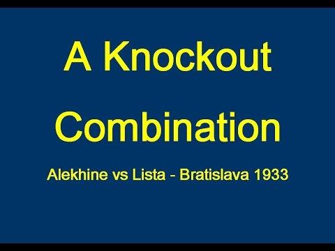 Alekhine vs Lista - Bratislava 1933