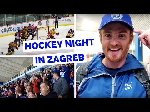 Ice Hockey in Zagreb, Croatia watching a Medveščak Zagreb game