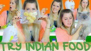 Russian girl try Indian food // Пробую ИНДИЙСКУЮ ЕДУ первый раз