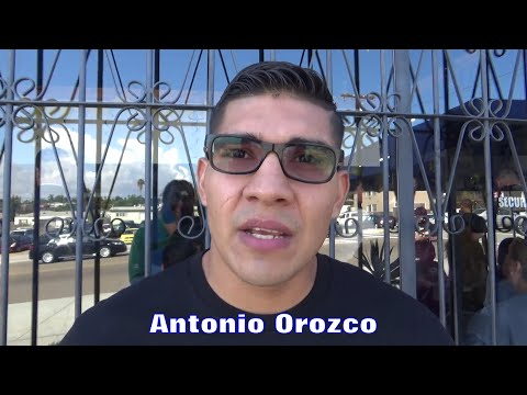 Antonio Orozco RIDING with CHILDHOOD FRIEND Brandon Rios AGAINST Bradley