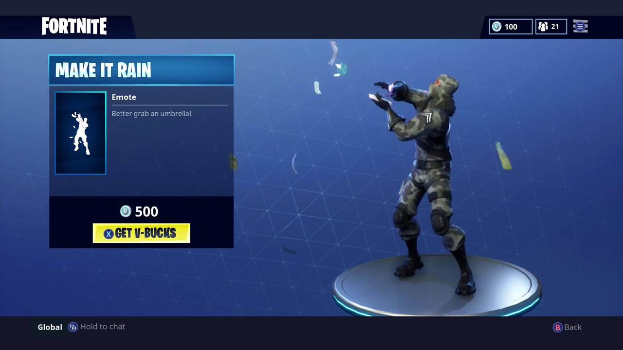 how to get drop of rain in fortnite