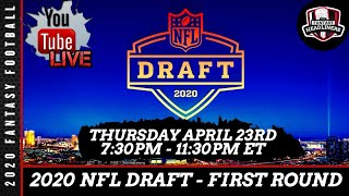 2020 NFL Draft LIVE Stream - First Round Pick by Pick Analysis