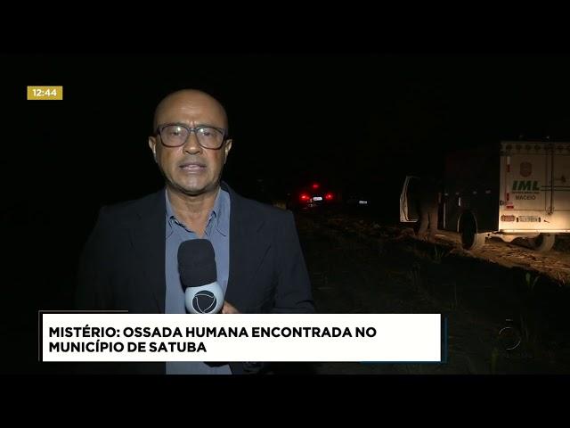 Ossada humana é encontrada no município de Satuba