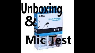 Boya BY-M1 Microphone ( Unboxing + Review)
