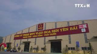Thông Tấn Xã Việt Nam (TTXVN) đưa tin Khánh thành nhà máy VLXD Hoa Sen Yên Bái