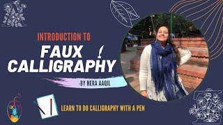 Basics of Faux Calligraphy (Full explanation)