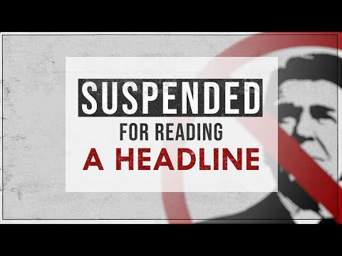 Suspended For Reading a Headline