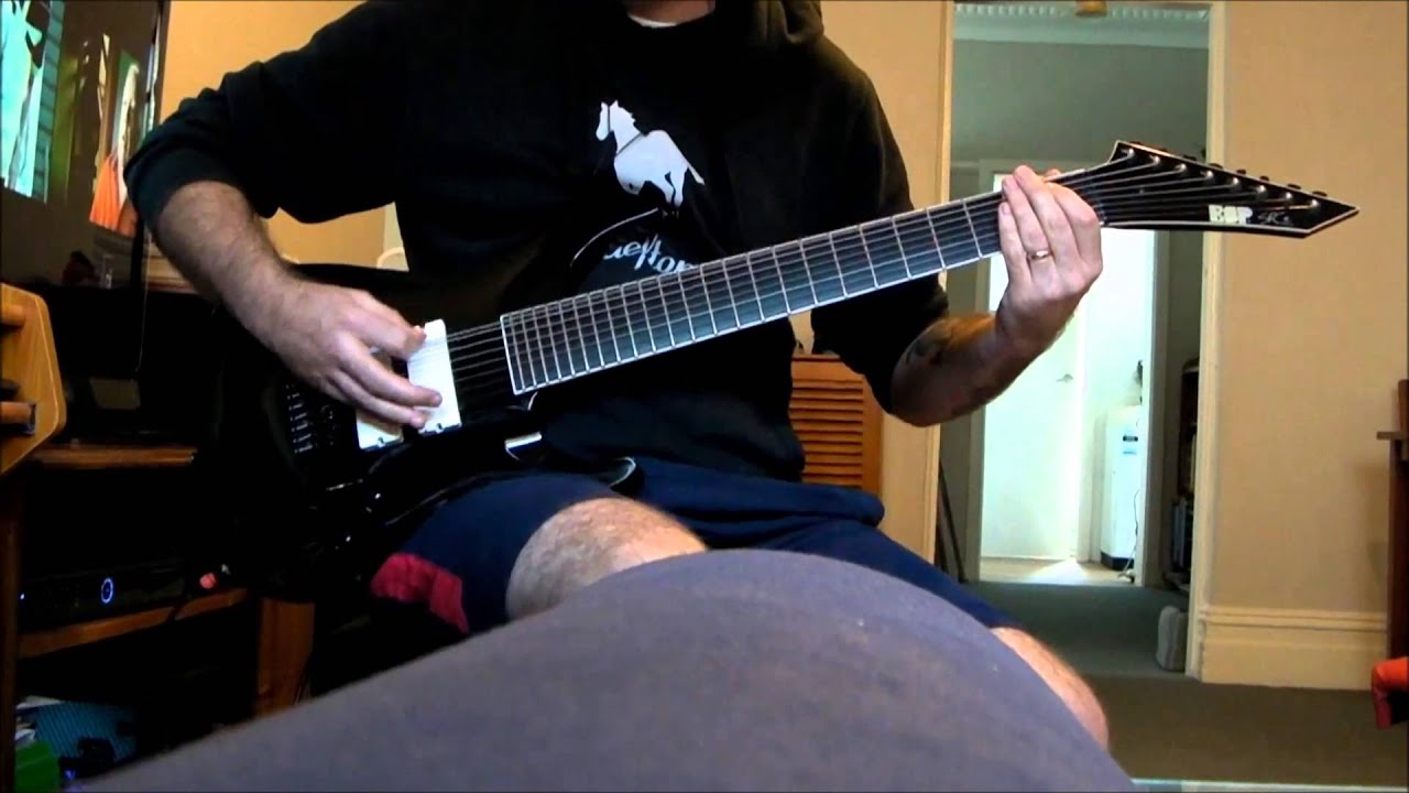 deftones risk 8 string guitar cover youtube