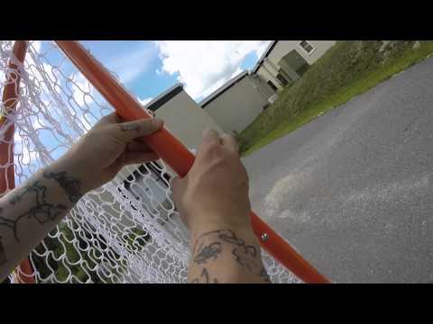 Rage Cage BRAVE Folding Backyard Lacrosse Goal w/ Shot Blocker Assembly Video @SportStop