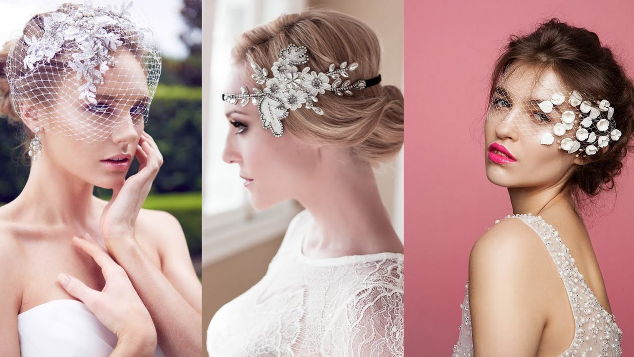 Bridal Hairstyles With Veils and Hairpieces - YouTube