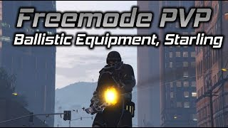 GTA Online: Freemode PVP Battles (Ballistic Equipment vs Snipers and Starling Takeouts)
