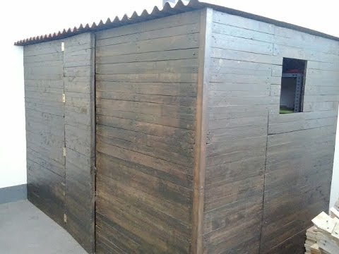 Muebles con palets caseta exterior with pallet for Caseta madera exterior