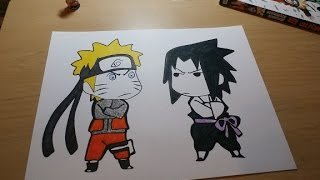 Coloring Naruto and Sasuke! ~ Time Lapse (Coloring Page)