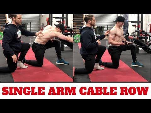 Single Arm Cable Row (Lat Hypertrophy)