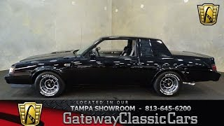 913 TPA 1987 Buick Grand National 3.8L V6 Turbocharged 4 Speed Automatic