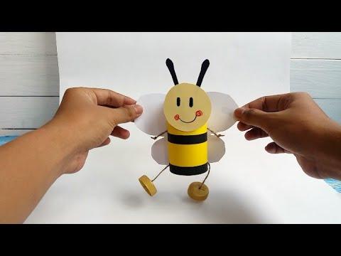 Make Bumble Bee From Toilet Paper Roll Tutorial Membuat Boneka