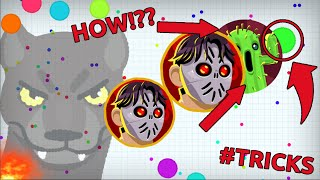 AWESOME POPSPLIT TRICK!! *NEW* PUSH SPLIT TRICK IN AGARIO // Agar.io Best Moments & INSANE Tricks