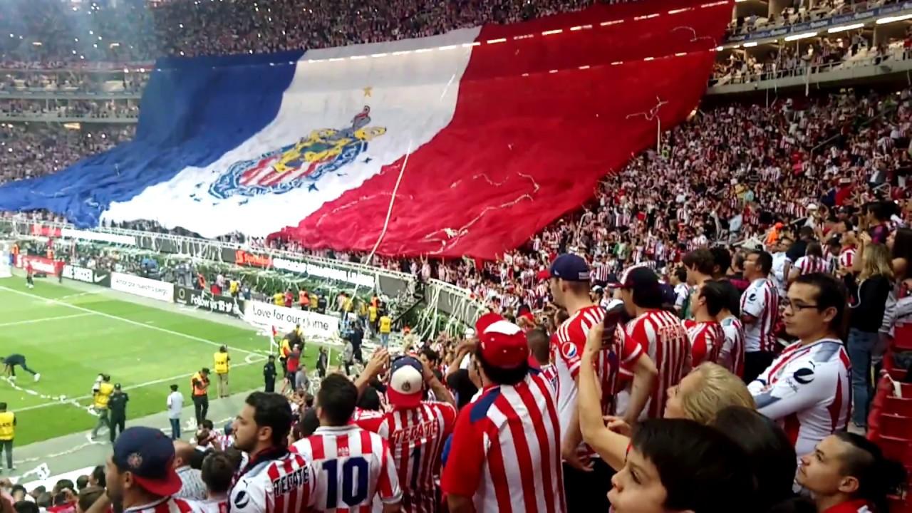MEGA RECIBIMIENTO FINAL CHIVAS VS TORONTO | TELON GIGANTE | TIFO | PIROTECNIA - YouTube