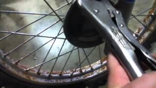 crf 100 maintenance front brakes adjustment