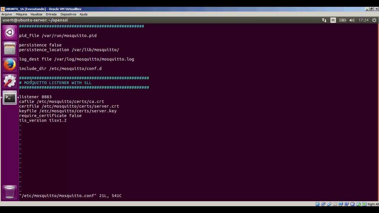 Configurando SSL/TLS no Mosquitto MQTT