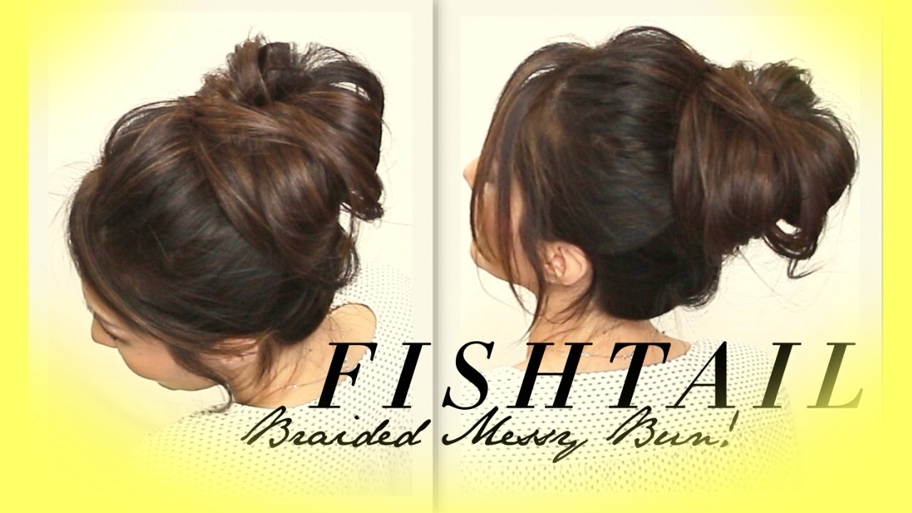☆ voluminous braided messy bun tutorial | cute hairstyles for