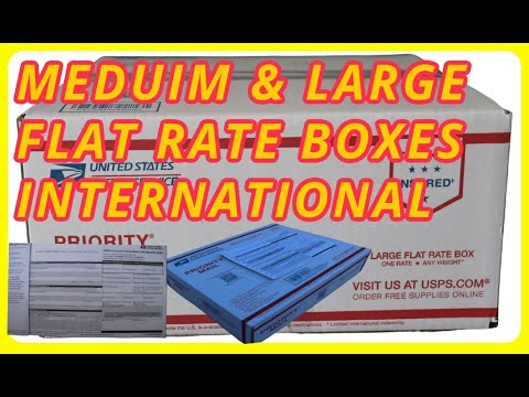 How To Ship \u0026 Label PRIORITY MAIL USING MEDIUM \u0026 LARGE FLAT RATE BOX FOR INTERNATIONAL SERVICE USPS