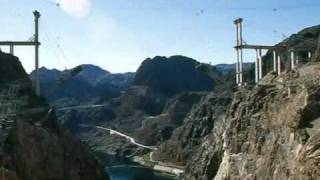 Hoover Dam Bypass Bridge Construction Time Lapse