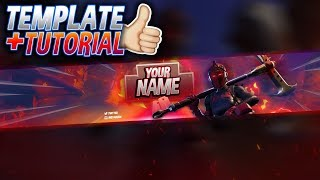 FREE RED KNIGHT BANNER TEMPLATE! | Fortnite