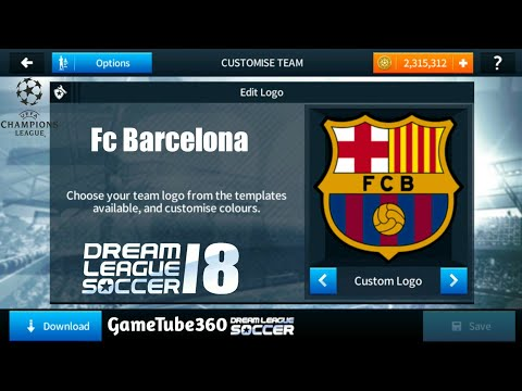 How to Import Fc Barcelona Logo & Kits (Uefa Champions League) In Dream League Soccer 2018