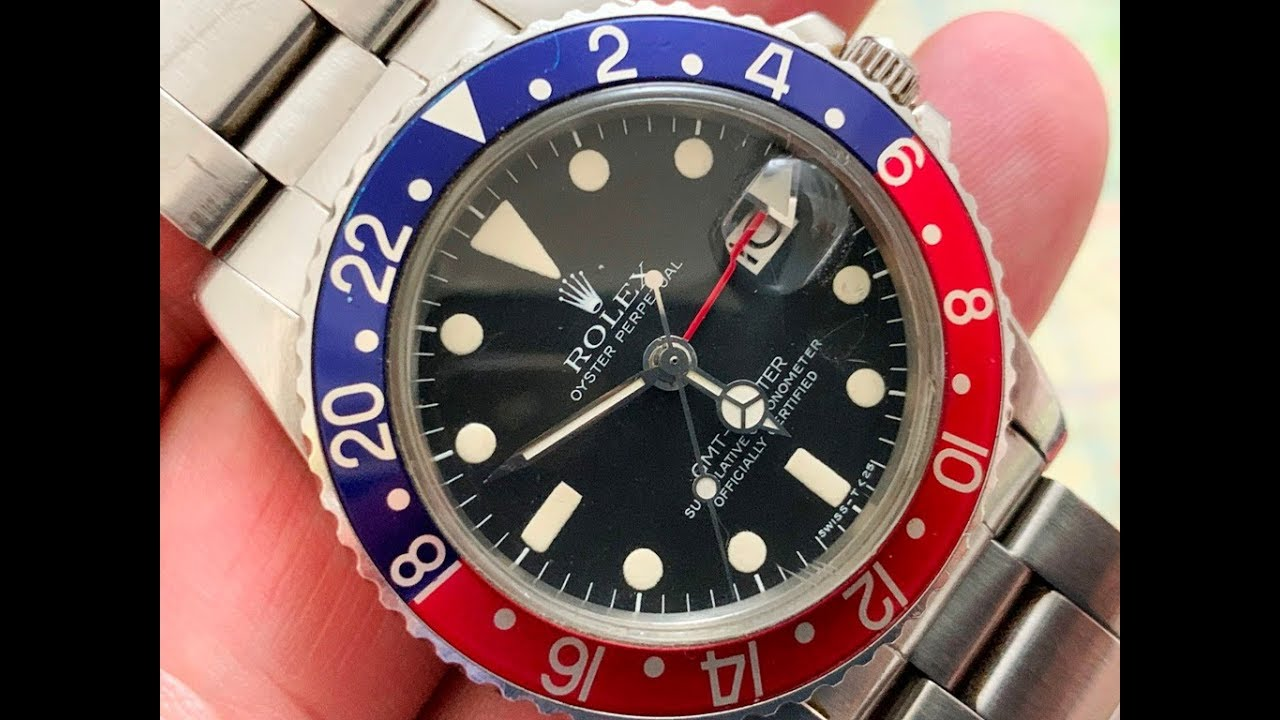 ROLEX GMT MASTER 1675 Pepsi , EXTENDED VERSION