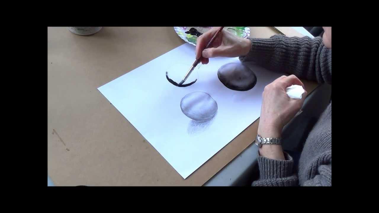 acrylmalerei techniken licht und schatten beispiel kugel youtube. Black Bedroom Furniture Sets. Home Design Ideas