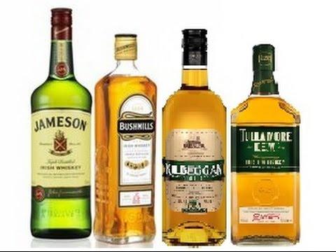 Рейтинг ирландских виски, Tullamore Dew, Bushmills, Kilbeggan, Jameson