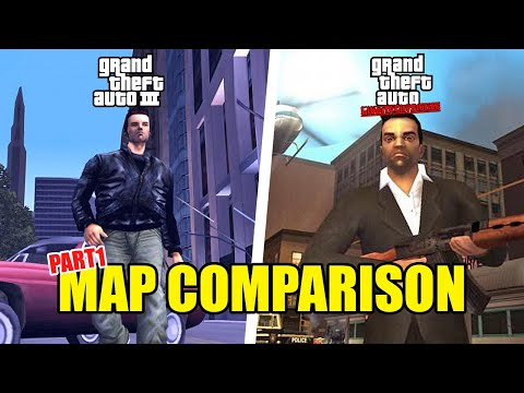 GTA 3 vs. Liberty City Stories - Map Comparison