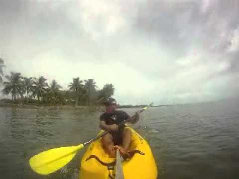 Kayaking Offshore Mentiri golf Club, Brunei bay
