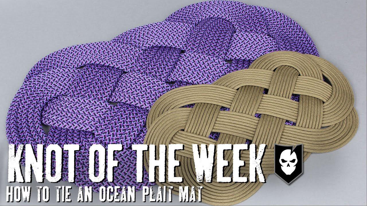 Tie An Ocean Plait Mat