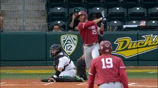 Stanford baseball clubs five home runs in commanding win at Oregon