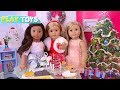 American Girl Doll Fashion Dress up & Pretend Play with Food Toys! 🎀