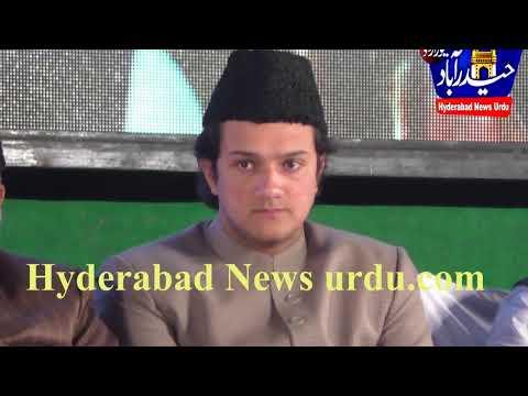 Akbar owaisi's Son Nooruddin owaisi attends Mim public meeting