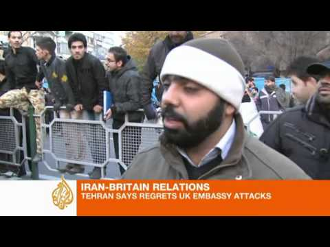Iranian protesters storm UK embbassy in Tehran