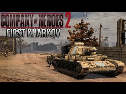 Company of Heroes 2 - First Kharkov AI Battle on General - Theater of War Gameplay