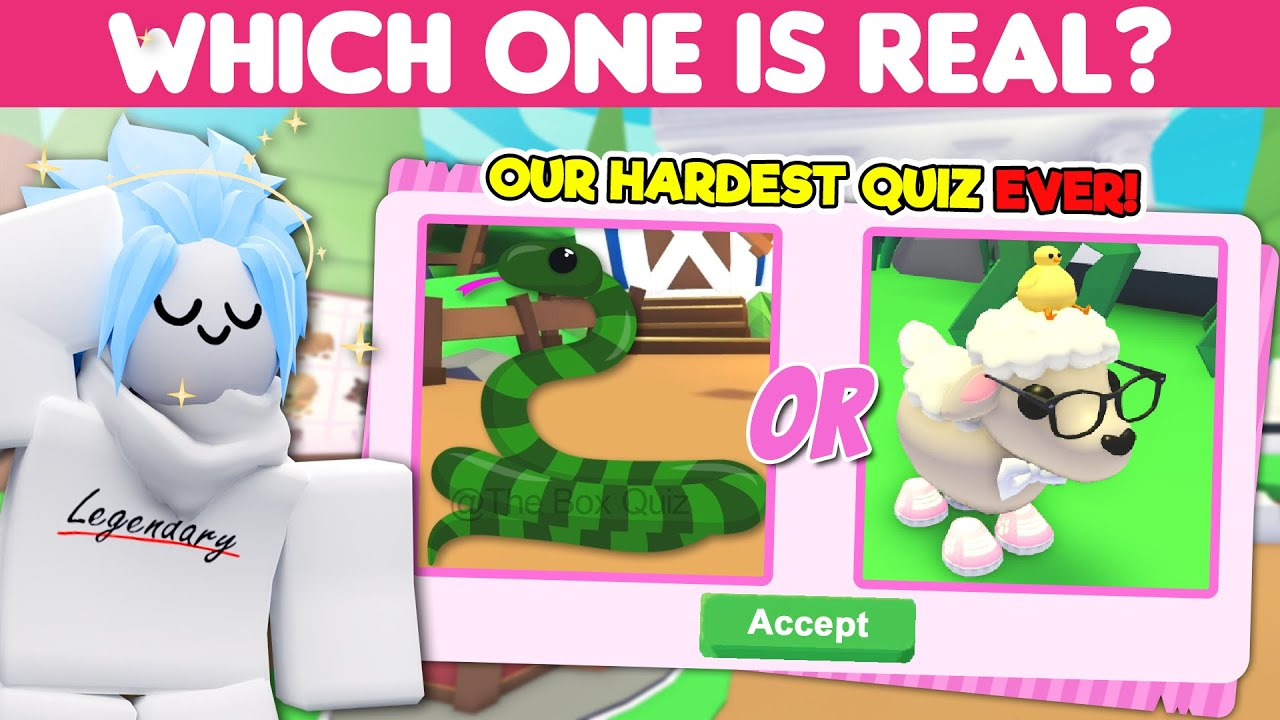 Our Hardest Adopt Me Quiz! Can you BEAT it to claim the LEGENDARY RANK?