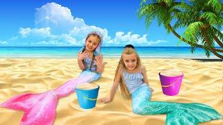Gisele y Claudia son sirenas de mar Las Ratitas