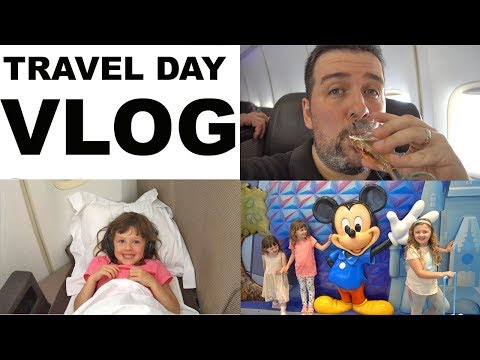Disney World Vacation Vlog Travel Day FIRST CLASS ON VIRGIN ATLANTIC to Orlando Florida 2017