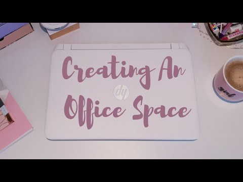 CREATING AN OFFICE SPACE | OFFICE MAKEOVER | SMALL OFFICE IDEAS