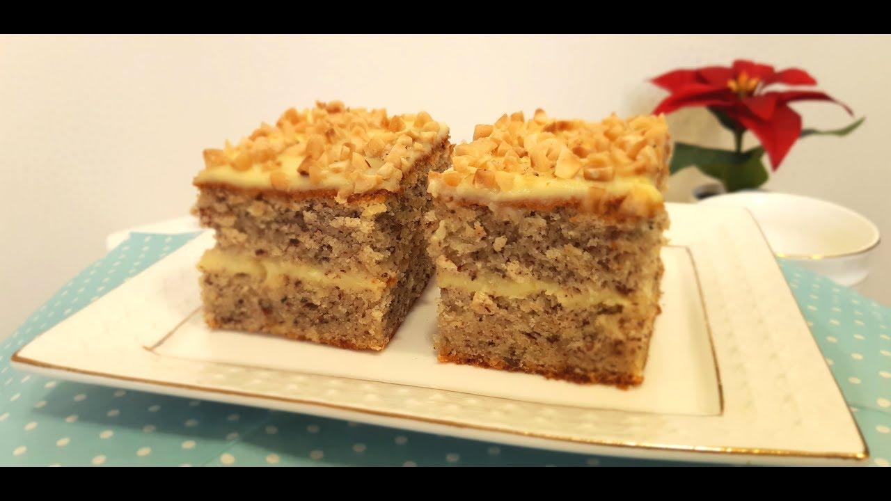 Немецкий Ореховый Пирог с Ванильным Кремом ☆ German hazelnut pie with vanilla cream