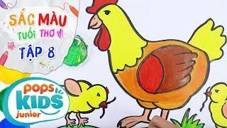 Sắc Màu Tuổi Thơ - Tập 8 - Bé Tập Vẽ Gà Con | How To Draw A Chicken Glitter For Kids