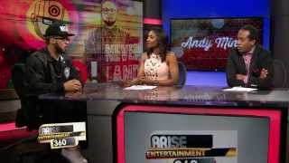 Andy Mineo goes in! on this Interview with Arise Entertainment 360