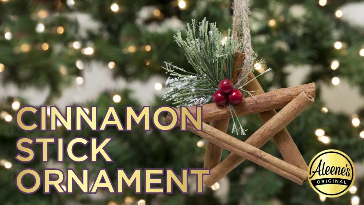 Diy Cinnamon Stick Star Ornament Youtube